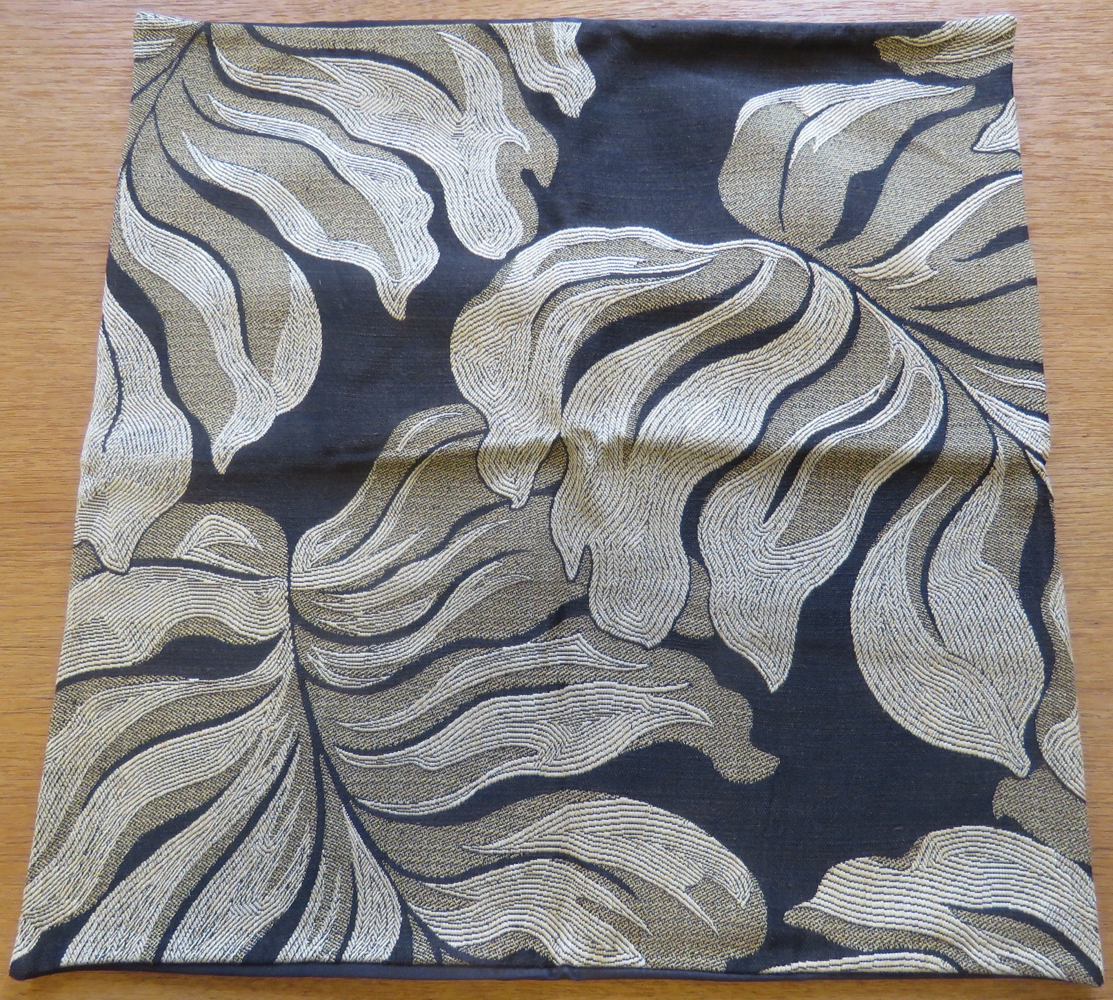 Throw Pillow Cover Case Tropical Leaf Chocolate Brown Tan Beige (GIF-61)