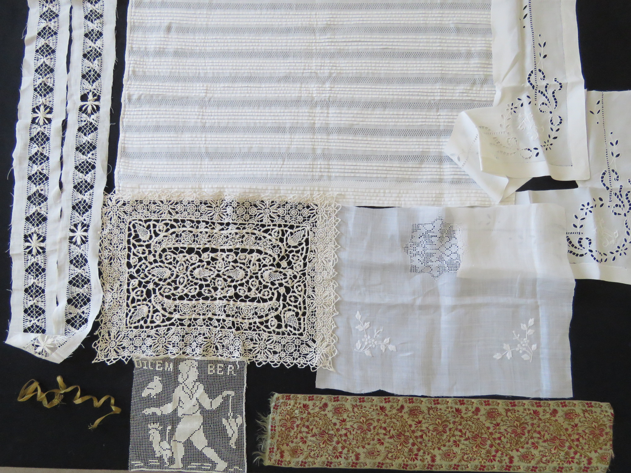 Vintage Embroidered Bed Jacket White Cotton Antique Trousseau  (LAC-277) in Lace > Nightgowns, Shifts, Lingerie