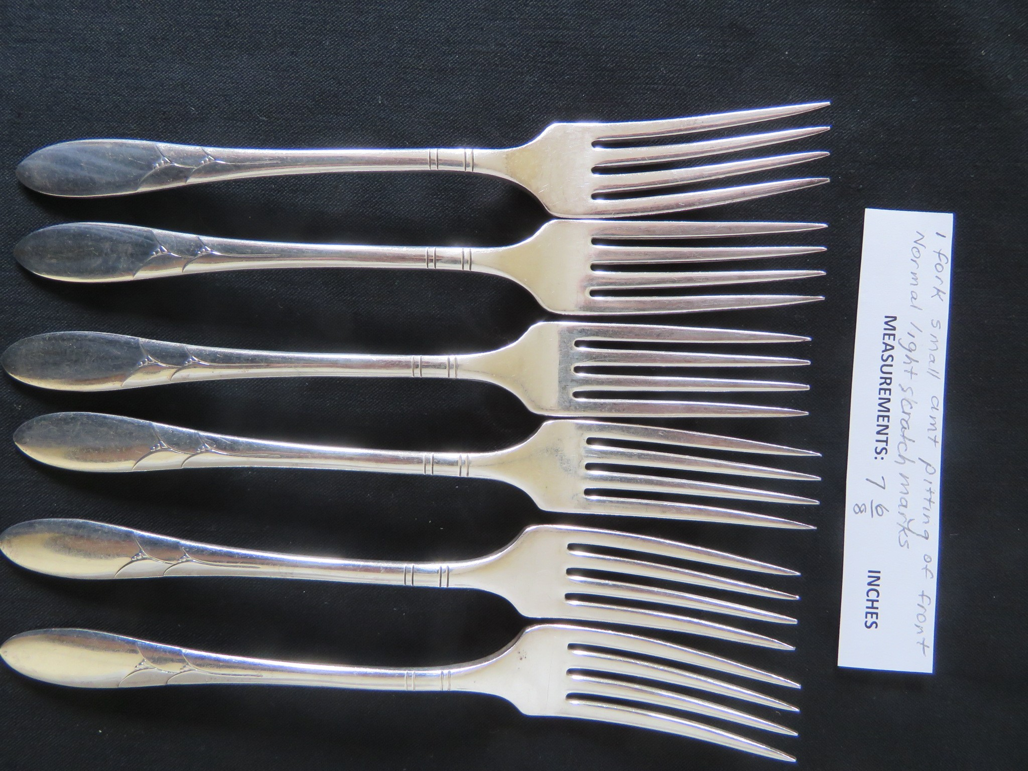 "LADY HAMILTON COMMUNITY SILVERPLATE DINNER FORKS 7 6/8"" (SIL-349)"